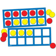 Jumbo Magnetic QuietShape® Foam Ten Frames with Counters