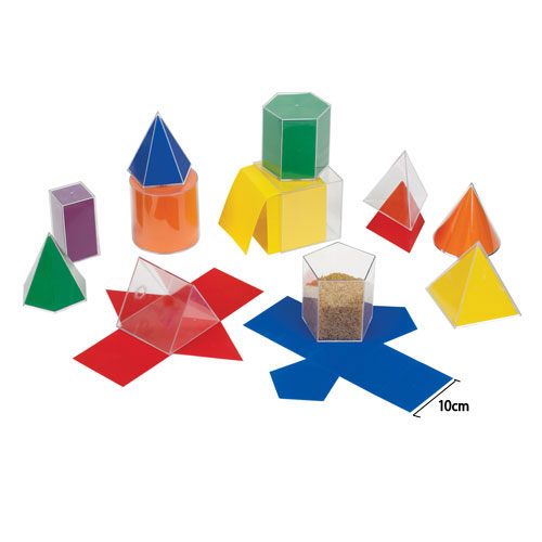 GeoModel® Folding Shapes: 10cm - 11 Solids and 11 Nets - 5 Sets