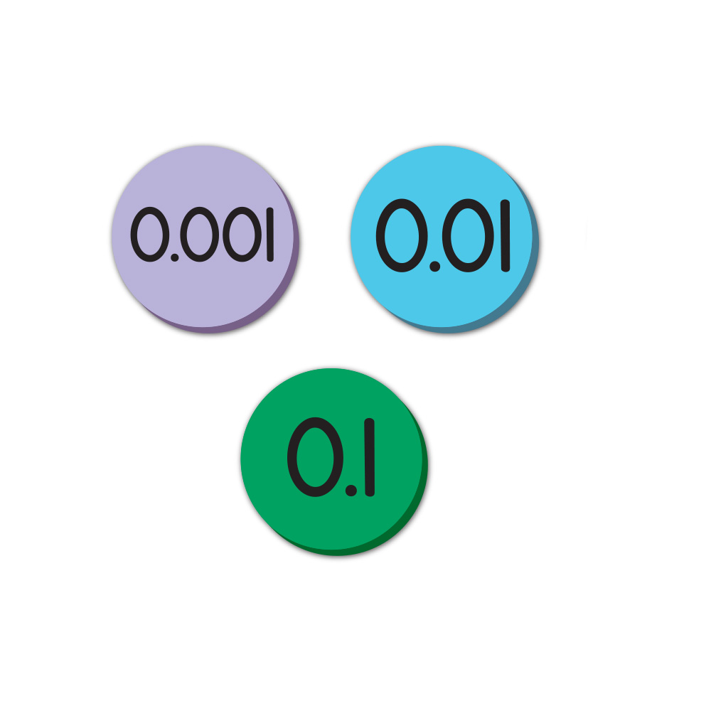 Jumbo Magnetic QuietShape® Foam Place Value Disks - Tenths to Thousandths Set of 60  sc 1 st  EAI Education & Jumbo Magnetic QuietShape® Foam Place Value Disks - Tenths to ...