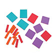 QuietShape® Foam Algebra Tiles - Extension Set of 19