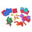 QuietShape® Foam Algebra Tiles - Combination Set of 54