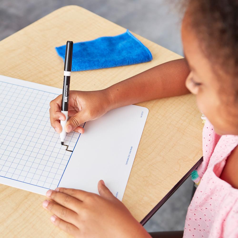 numerical fluency centimeter grid flexible dry erase boards set