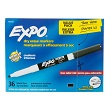 Expo® Low Odor Dry Erase Marker - Fine-Tip Black - Set of 36
