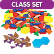 Fraction Pattern Blocks with Double Hexagon - Set of 365