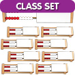 Two-Bar Rekenrek Classroom Set: Wooden with Blocking Panels