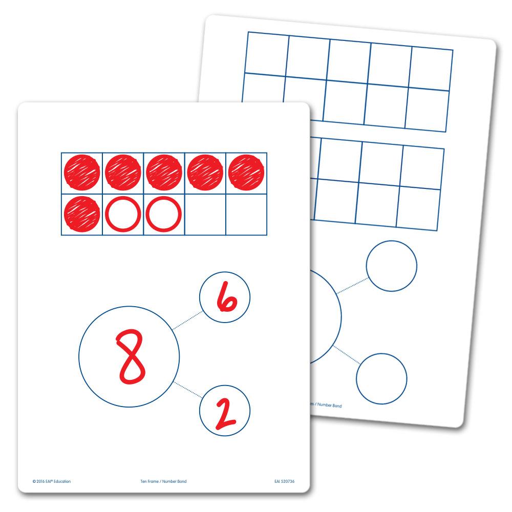 Ten Frames & Number Bonds Flexible Dry-Erase Boards