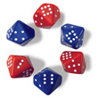 Subitizing Dice 0-9: Set of 6