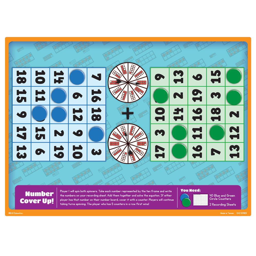 Math Standards Game - Grade 1: Number Cover Up! - Adding Numbers 1 ...