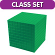 Base Ten Thousand Cube: Green Plastic - Set of 25 in Tub