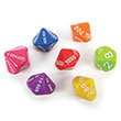 EAI® Education Place Value Dice - Ones to Millions: Set of 7