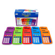 CalcPal® EAI-80 Basic Calculator: Assorted Colors - Set of 10