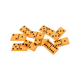 Transparent Double-Six Dominoes: Set of 28
