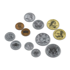 Transparent Coins - Set of 50