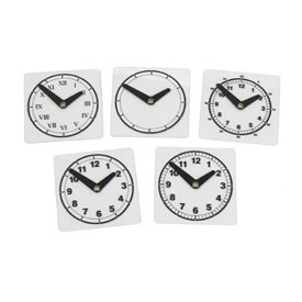 Transparent Clock Faces - Variety Set of 5