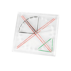 "Transparent 6"" Geoboard: 24-Pin Circular"