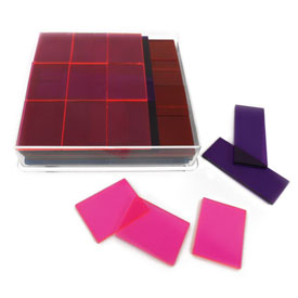 Transparent Deluxe Fraction Squares - Set of 51