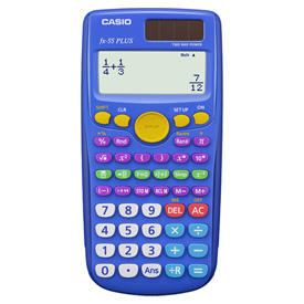 Casio® FX-55 PLUS Fraction Calculator - Teacher Pack of 10