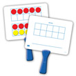Magnetic Ten Frame Double-Sided Paddles - Set of 5