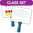 Magnetic Ten Frame Double-Sided Paddles - Classroom Set