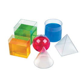 Basic Geometric Volume Shapes - Set of 6