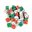 Dot Dice: Red/Green/White - Set of 36