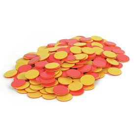 Two-Color Counters: Red/Yellow - Set of 200