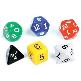 Polyhedra Dice - Set of 6