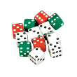 Dice: Red/Green/White - Set of 12