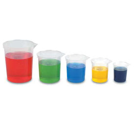 Metric Economy Beakers with Pouring Lip - Set of 5
