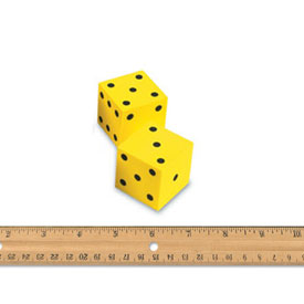 QuietShape® Foam Dot Dice - Set of 2