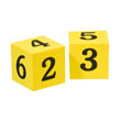 Jumbo QuietShape® Foam Number Dice - Set of 2