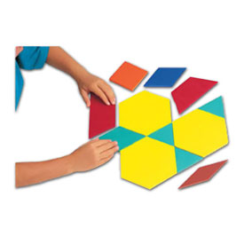 Jumbo QuietShape® Foam Pattern Blocks - Set of 49