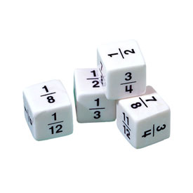 Fraction Dice - Set of 4