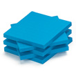 Base Ten Flats: Blue Plastic - Set of 10