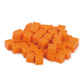 Base Ten Units: Orange Plastic - Set of 100