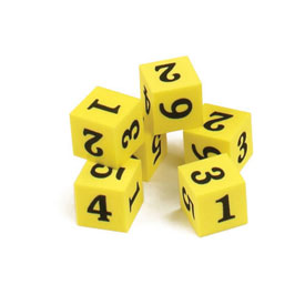 "QuietShape® Foam Number Dice: 3/4"" - Set of 144"