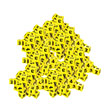 "QuietShape® Number Dice: 3/4"" - Set of 144"