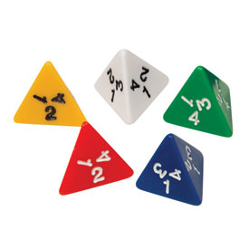 4-Sided Dice - Set of 5