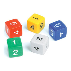 6-Sided Dice - Set of 5