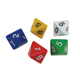 8-Sided Dice - Set of 5