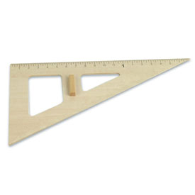 Wooden Chalkboard Accessories: 30°/60°/90° Triangle