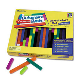 Cuisenaire® Rods: Connecting Rods: Introductory Set - Set of 74