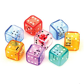 6-Sided Double Dice - Set of 8