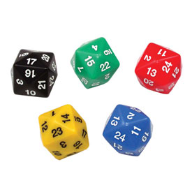 24-Sided Dice - Set of 5