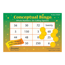 Conceptual Bingo™ Whole Numbers