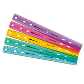 "12"" Ruler: Assorted Colors - Set of 10"