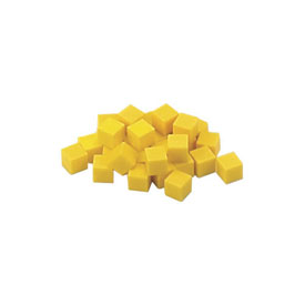 Base Ten Units: Yellow Plastic - Set of 100