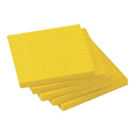 Base Ten Flats: Yellow Plastic - Set of 10