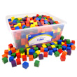 "Wooden Cubes: 1"" Assorted Colors - Set of 510 in Tub"