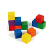 "Wooden Cubes: 1"" Assorted Colors - Set of 102 in a jar"